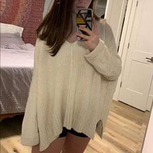 Oversized free people sweater